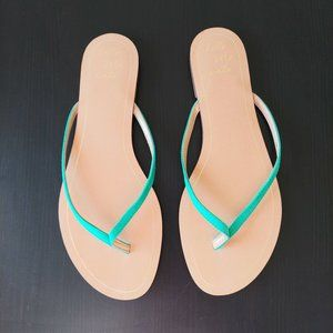 Banana Republic Green Suede Leather Sandals Slides